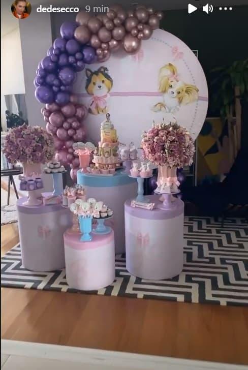 Deborah Secco realizou festa surpresa pra filha