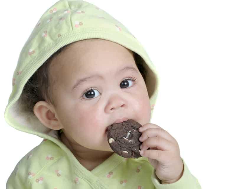 Até os dois anos de idade é preferível oferecer biscoitos feitos em casa
