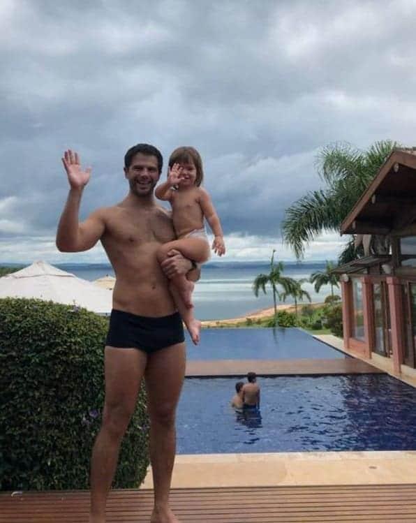 Duda Nagle e sua bebê Zoe