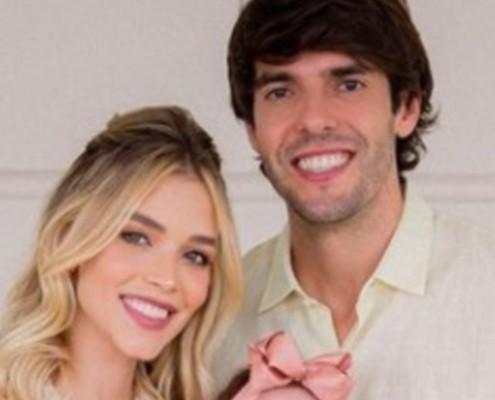 Kaká e Carol Dias fizeram um mêsversário para sua bebê