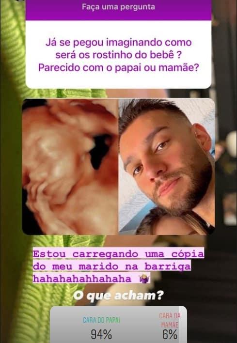 Rosto do bebê do cantor Lucas Lucco