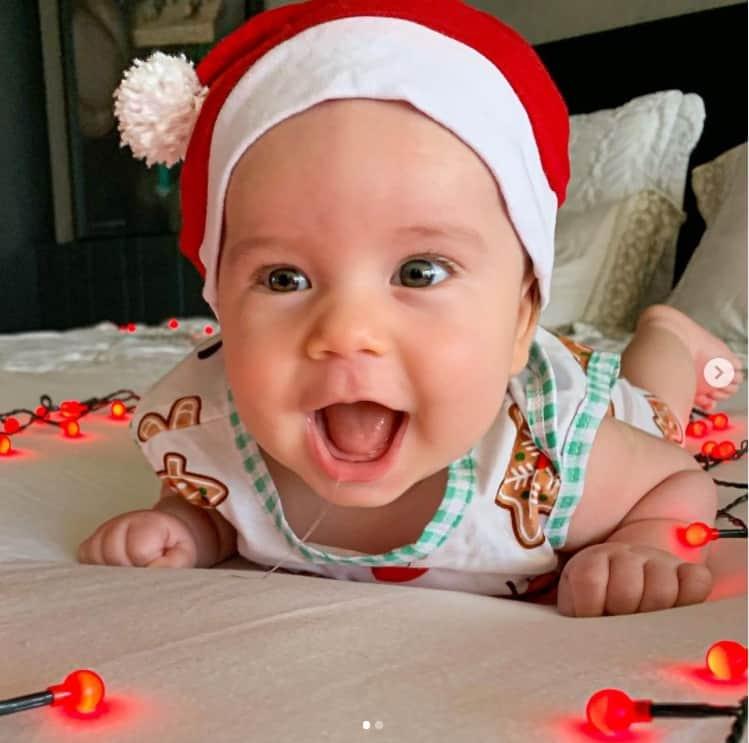Filho de três meses de Mano Walter