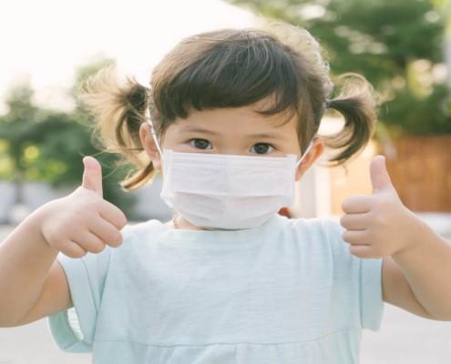 Confira se a máscara é indicada para criança