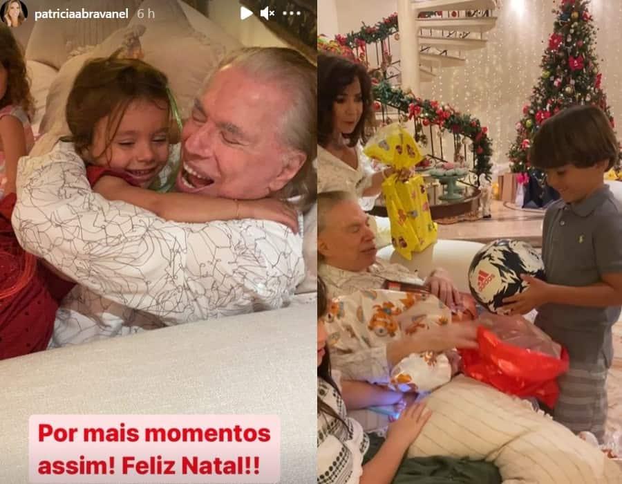 Patrícia Abravanel encantou ao mostrar Silvio Santos com os netos