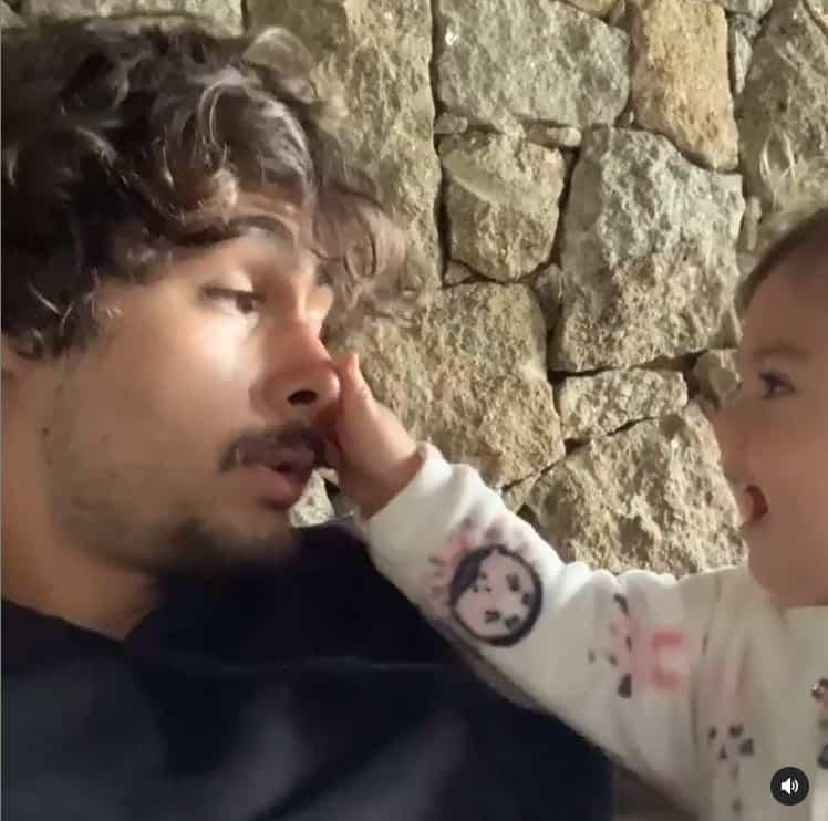 Rafael Vitti e a bebê Clara Maria