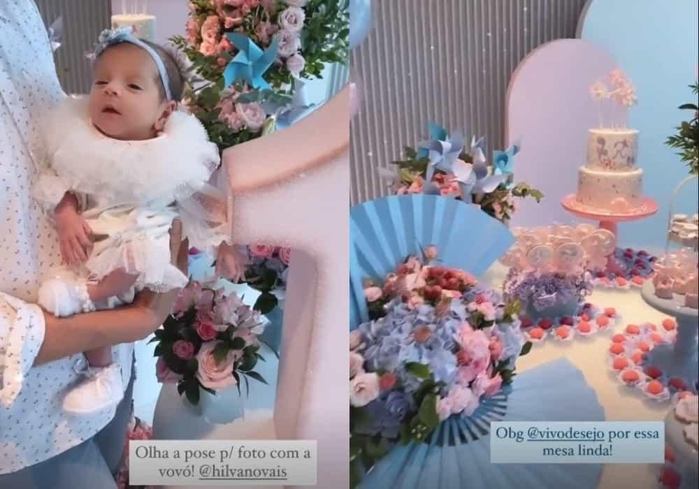 Bebê de Alok e Romana Novais celebrando um mês de vida