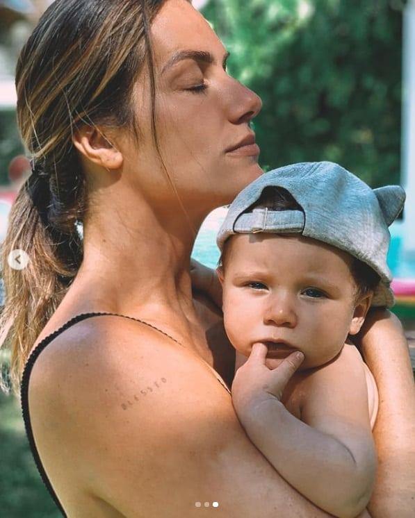 Giovanna Ewbank com Zyan, seu filho caçula com Bruno Gagliasso