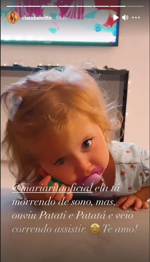 A menina Bela, filha da cantora Claudia Leitte