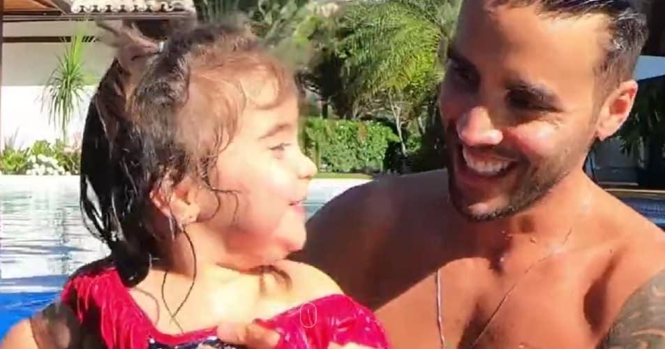 Daniel Cady com sua bebê com Ivete Sangalo