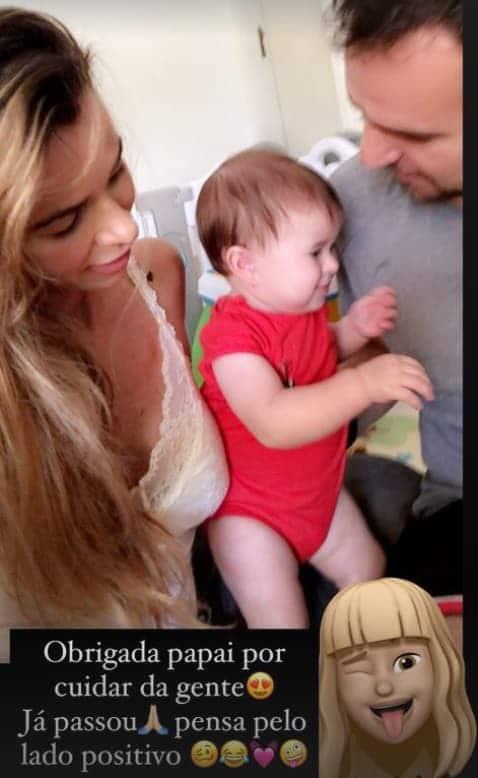 Dany Bananinha junto com a filha e o seu namorado