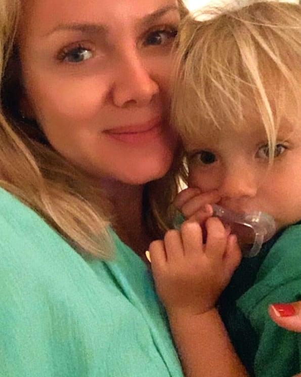 Eliana com a filha mais nova, Manuela