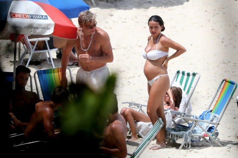 Fábio Assunção com a esposa Ana Verena que está esperando o terceiro filho dele