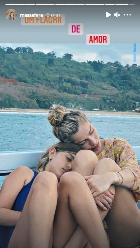 Grazi Massafera com a filha com Cauã Reymond