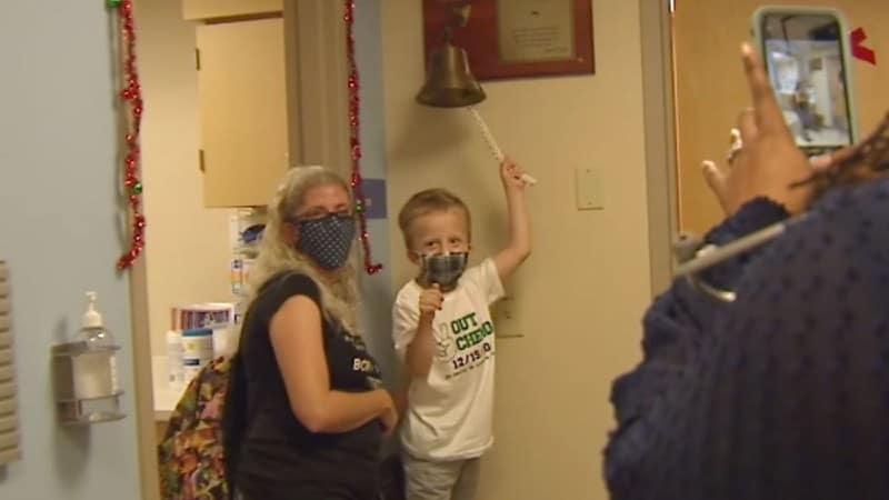 Após 60 sessões de quimioterapia, o garoto teve alta