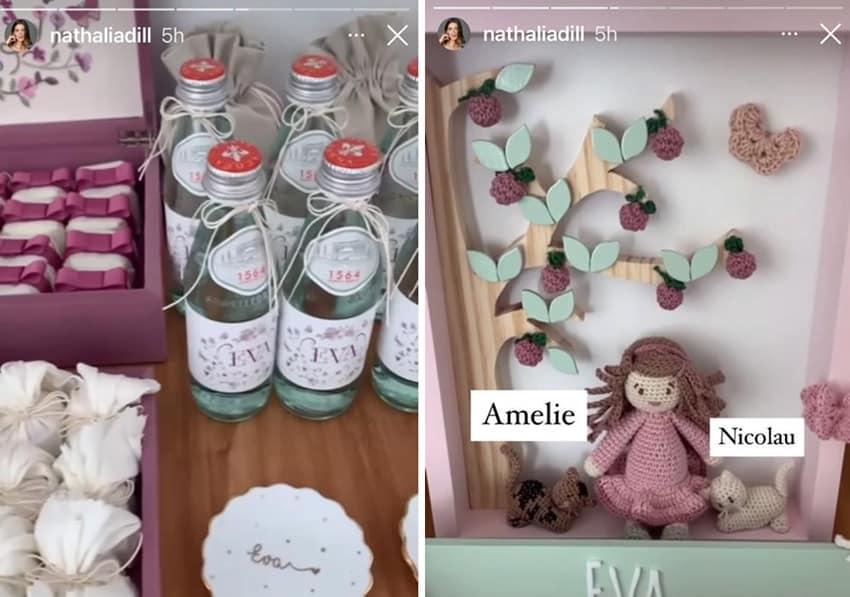A atriz Nathalia Dill mostrou as lembrancinhas de maternidade