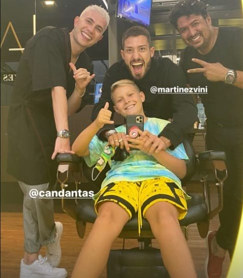 Filho de Neymar com seu novo penteado