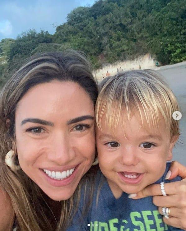 Patrícia Abravanel e o filho caçula de um ano