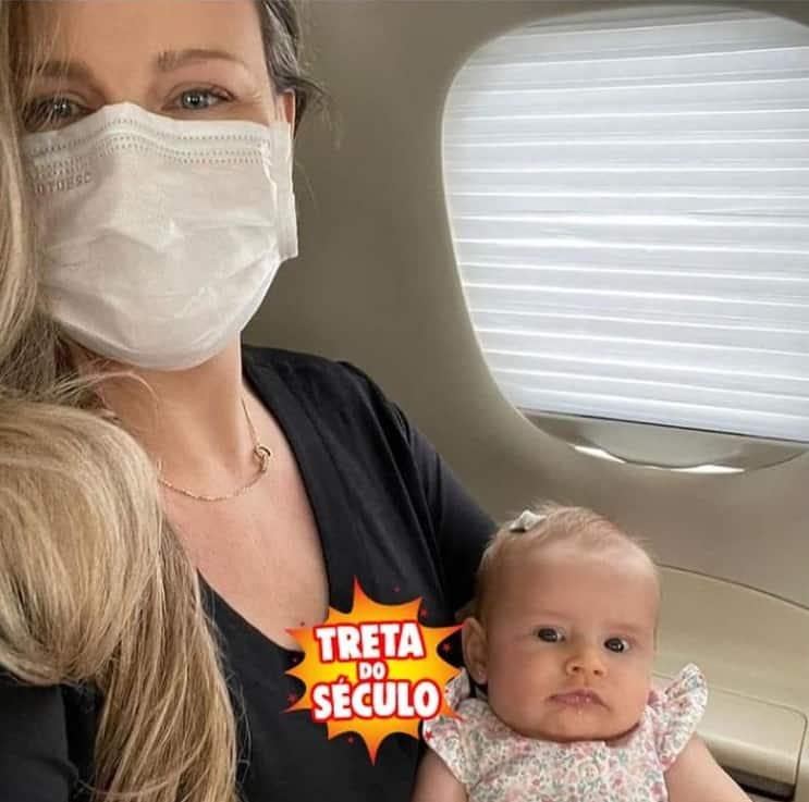 Daiana Garbin e a filha em foto de Tiago Leifert