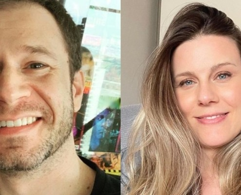 Tiago Leifert e Daiana Garbin mostraram o rosto de sua bebê