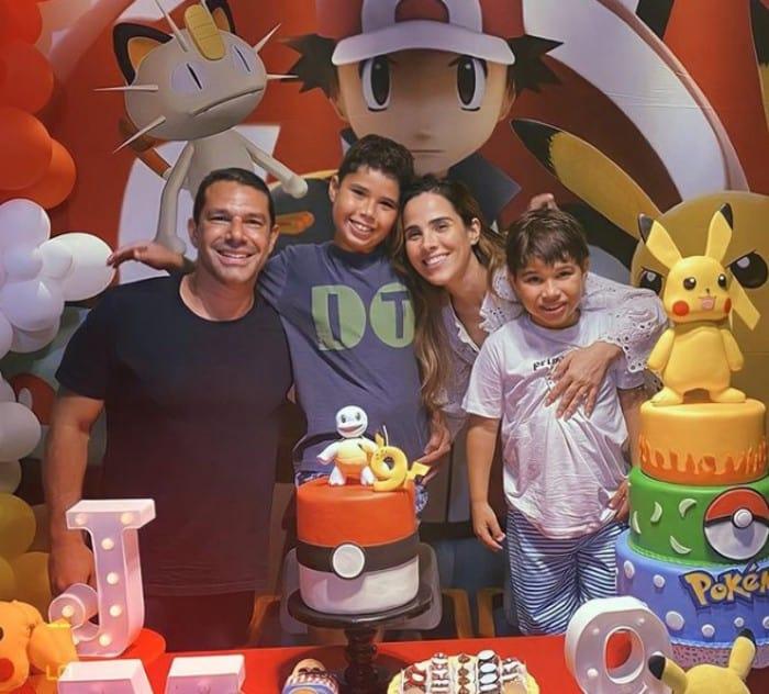 """O aniversário do filho de Wanessa Camargo teve o tema """"Pokémon"""""""