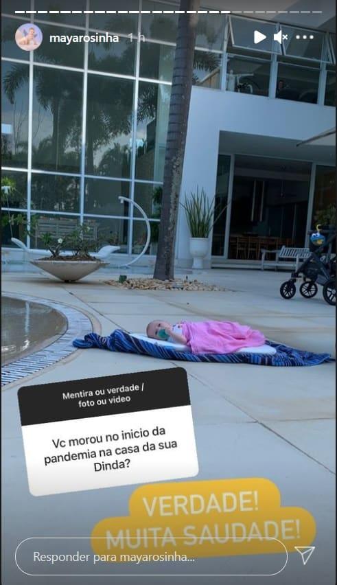 Afilhada de Xuxa na mansão da apresentadora
