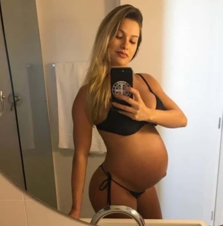 Andressa Suita quando estava grávida de Gabriel