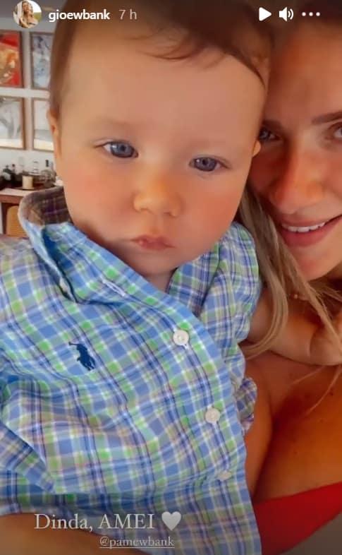 Giovanna Ewbank com seu filho mais novo com Bruno Gagliasso
