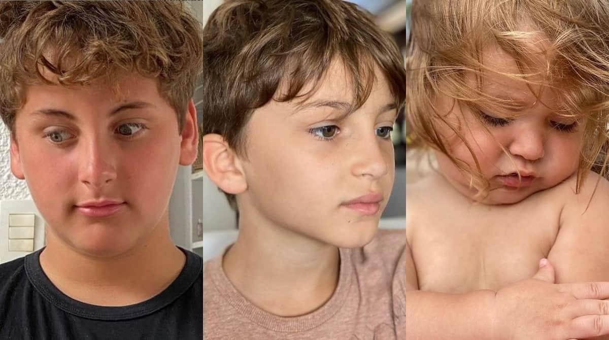 Davi, Rafael e Bela, os filhos da cantora Claudia Leitte