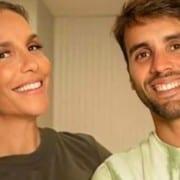Daniel Cady e Ivete Sangalo mostraram a gêmea Helena
