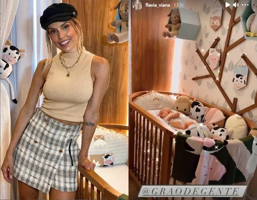 Flávia Viana no quarto de seu filho Gabriel