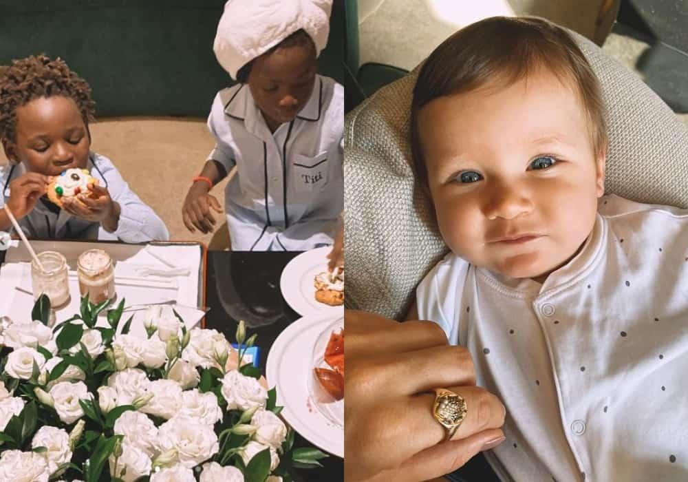 Filhos de Giovanna Ewbank e Bruno Gagliasso em hotel de luxo