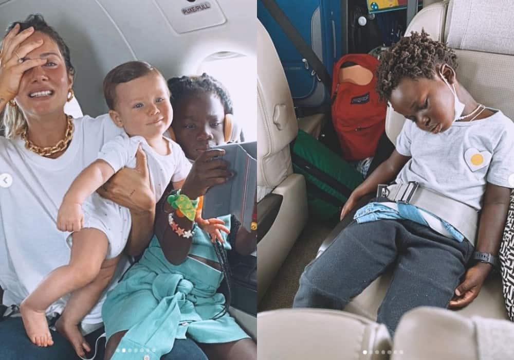 Giovanna Ewbank mostrou os filhos juntos
