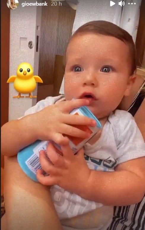 O bebê Zyan que é filho de Giovanna Ewbank e Bruno Gagliasso