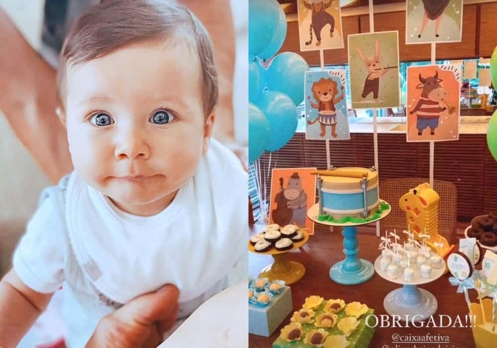 Festa de mêsversário do caçula de Bruno Gagliasso e Giovanna Ewbank