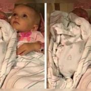 Assim que viu a irmã, a bebê engatinhou até o berço