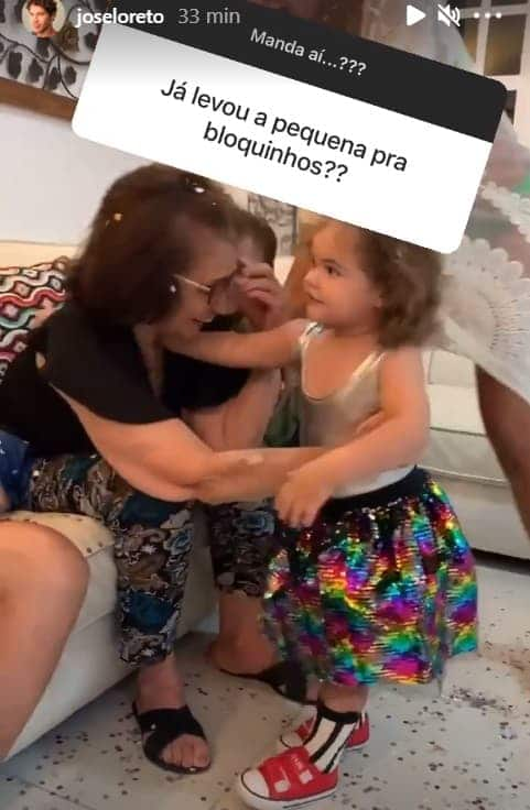 A bebê Bella, filha de José Loreto e Débora Nascimento