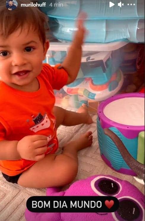 O pequeno Léo, filho de Murilo Huff e Marília Mendonça