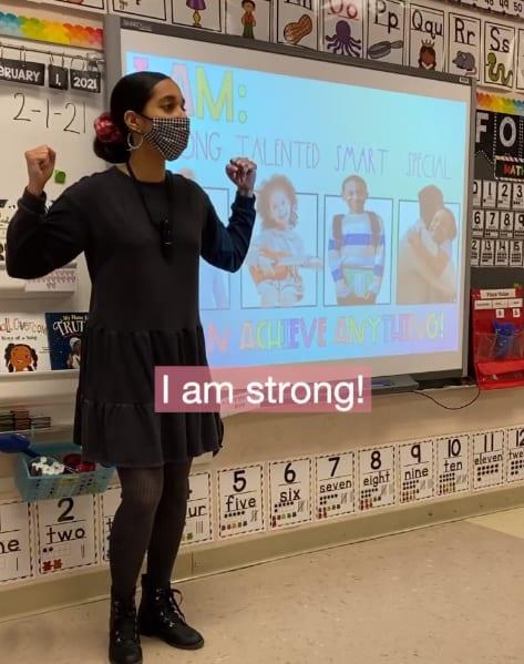 """O """"momento de motivação"""" virou o ponto alto da aula da professora"""
