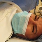 Simone durante o parto de sua bebê