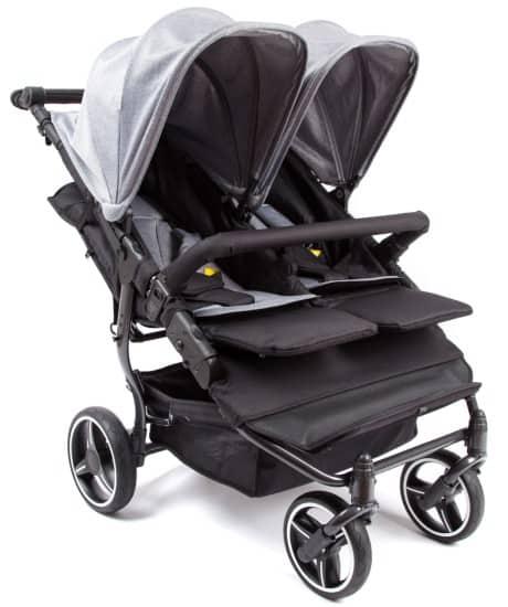 Alguns tipos de carrinho de bebê são destinados a gêmeos