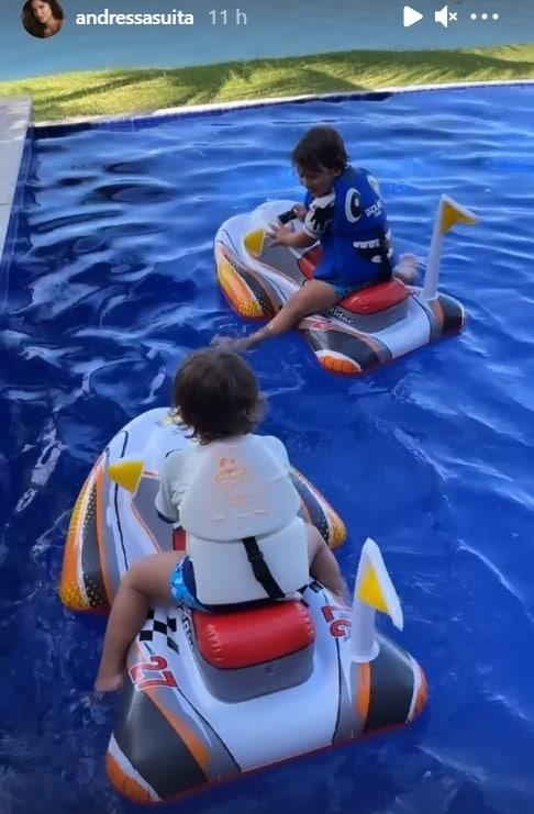 Andressa Suita encantou ao mostrar os filhos com Gusttavo Lima