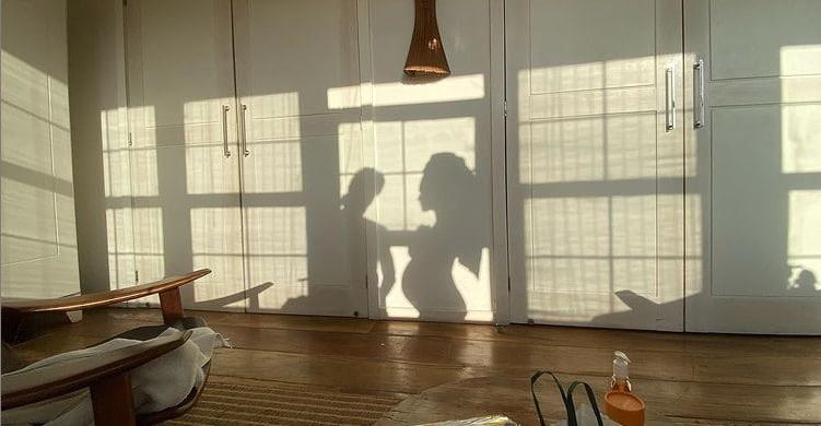 Ensaio gestante de Fábio Assunção com sua esposa