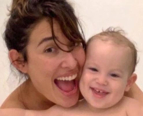 Giselle Itié comemorou o aniversário de seu bebê