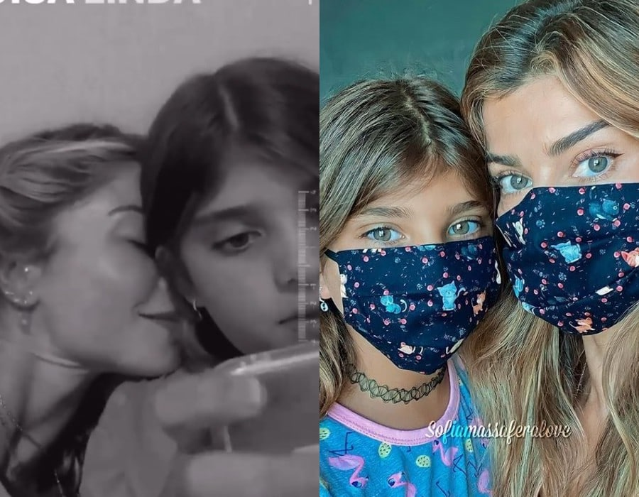 Grazi Massafera com sua filha Sofia