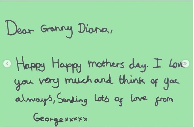Kate Middleton revelou carta de George pra princesa Diana