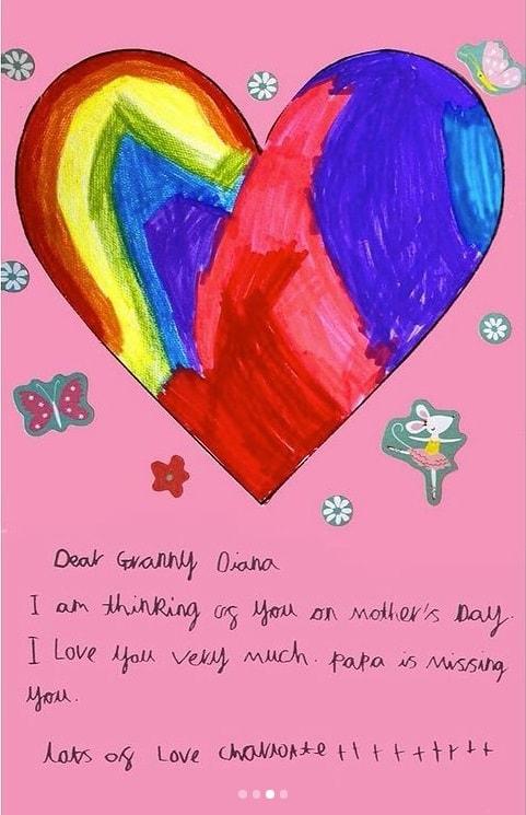 Carta de Charlotte para Diana mostrada por Kate Middleton