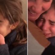 A reação da menina surpreendeu até a própria mãe