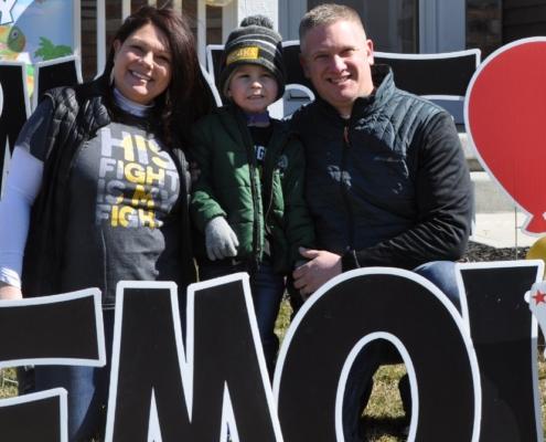 O menino foi diagnosticado com leucemia linfoblástica