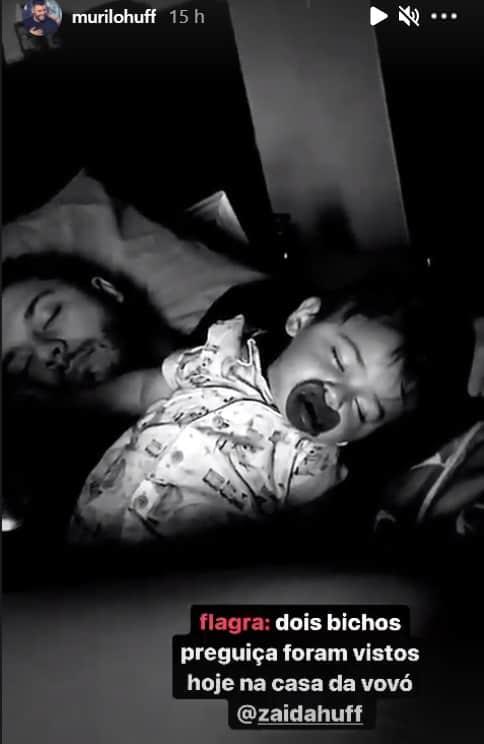 Murilo Huff junto com seu filho com Marília Mendonça