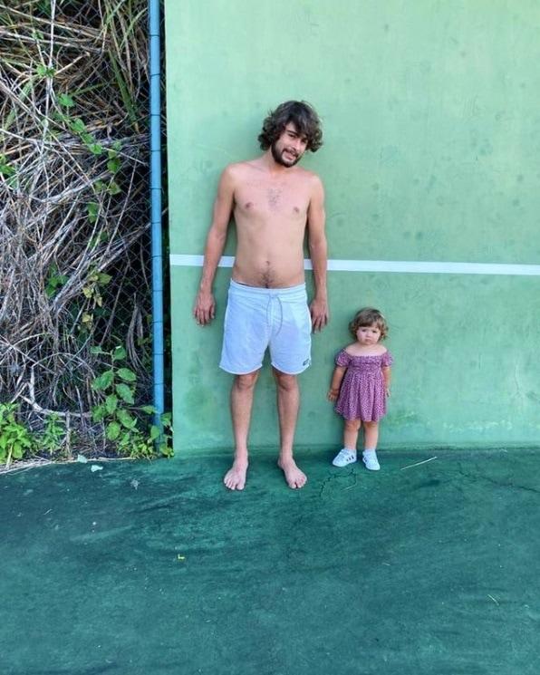 Rafael Vitti e sua bebê Clara Maria